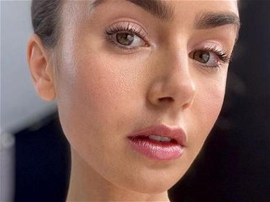 Lily Collins Highlights Thigh Gap While Kissing 2020 Goodbye