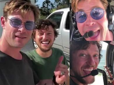 Chris Hemsworth Gives Hitchhiker a 'Heli' of a Ride in Australia