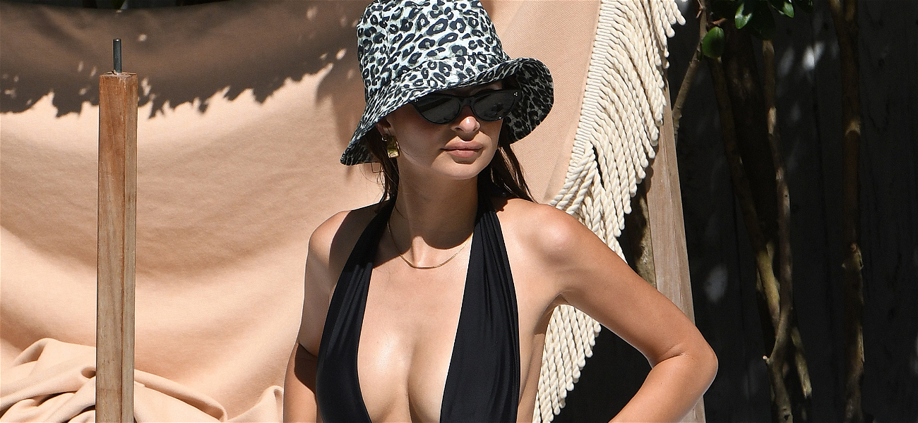 Emily Ratajkowski Barely Covers Her Bits in $160 One-Piece
