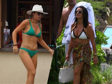 'RHOBH' Stars Kyle Richards and Teddi Jo Mellencamp Don Skimpy Bikinis During Camille Grammer's Wedding Weekend