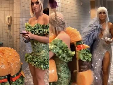 J. Lo Unfazed By Katy Perry's Cheeseburger Change in Bathroom During Met Gala