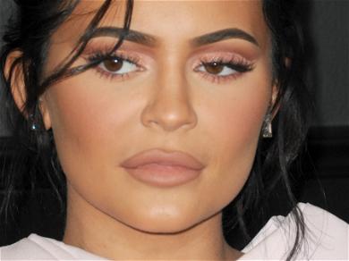 Kylie Jenner Models Conical Bra Dress For Major Announcement