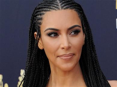 Kim Kardashian Rocks Latex Minidress With Shoe Dilemma