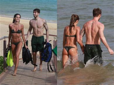 Izabel Goulart and Kevin Trapp Brought Their Own Six-Packs to the Beach