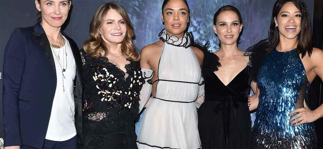 Gina Rodriguez, Natalie Portman and Janelle Monáe Are Black & Blue on the Red Carpet