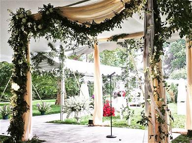 Wedding Guests Glamp & Enjoy Romantic Scenery at Former Home of Harvey Weinstein