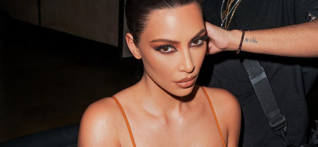 Kim Kardashian Bends Over In Valentine's Day Lingerie To Smell The Flowers!