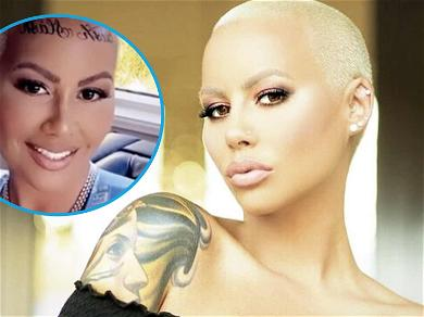 Amber Rose Puts Her Curves On Notice In Skintight Bodysuit