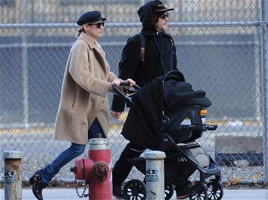 New Parents Diane Kruger and Norman Reedus Take Their Baby on a Stroll in NYC