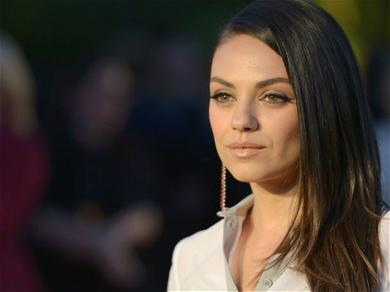 Mila Kunis Stuns In Acid-Wash Jeans With Zero Makeup At The DMV