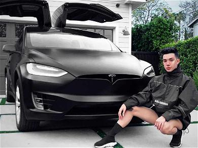 YouTuber James Charles Shows Off His Sick New Tesla Model X
