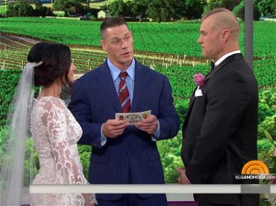 John Cena Officiates a Wedding and Nobody Got Suplexed Through a Table