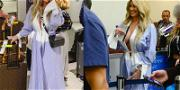 Kim Zolciak Lets It All Hang Out at the Airport