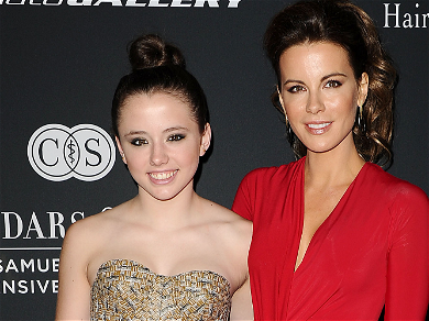 Kate Beckinsale Gives Daughter 'Breastfeeding' Option In NSFW Holiday Game