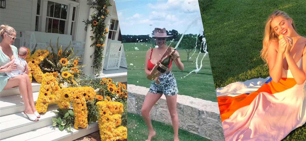 Kate Upton Shows Off Big Bubbly Guns on 27th Birthday