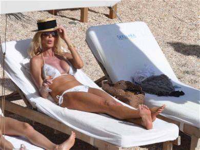 Playboy's Victoria Silvstedt Sippin' Rosé and Soaking Up the Sun