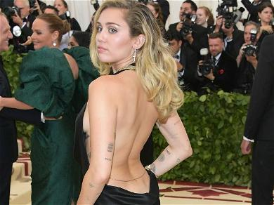 Miley Cyrus Slapped On The Backside By Easter Bunny In Cheeky Latex Swimsuit
