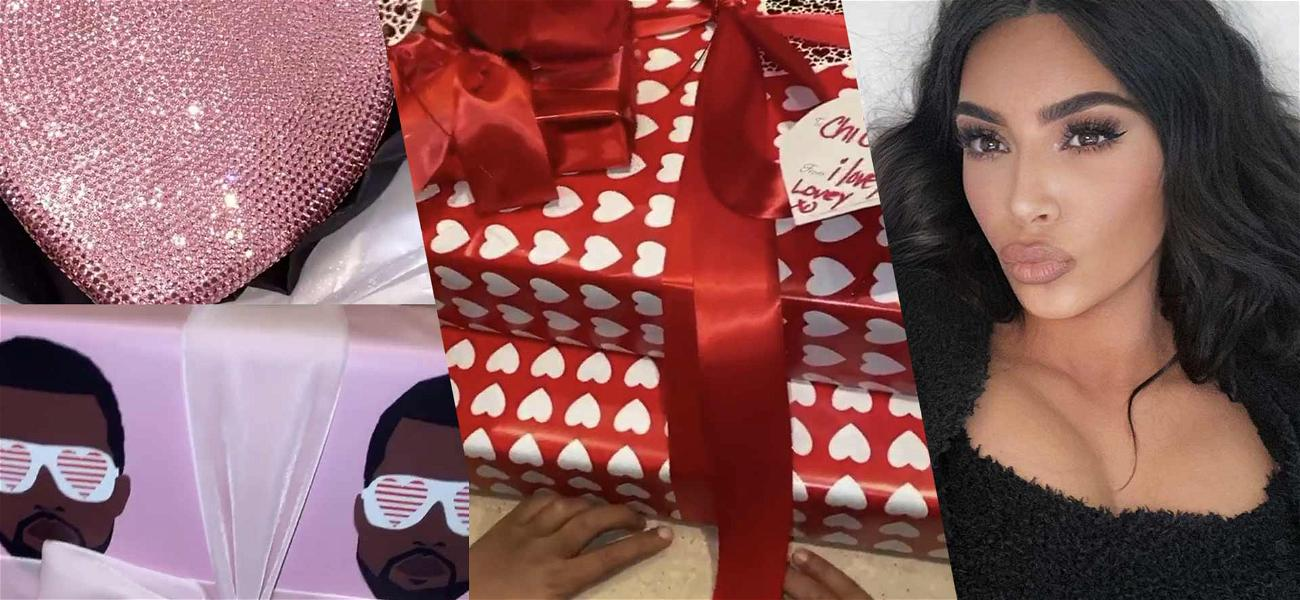 Kim Kardashian's Valentine's Day Is More Like Christmas, Shows Off Gifts From Khloe And Kris