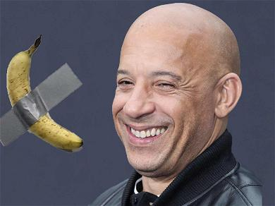 Vin Diesel Poses Nude With Banana Taped To Towel After Art Basel Prank