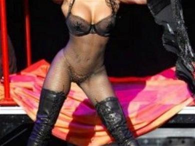 Mel B Shows Off Toned Body in Fishnet Bodysuit