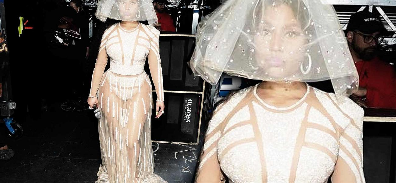 Nicki Minaj Continues to Tease Marriage Rumors with Bridal Dress at Concert