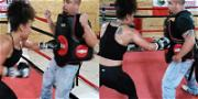 Hoopz Works on Her Haymakers Ahead of Fight with Farrah Abraham