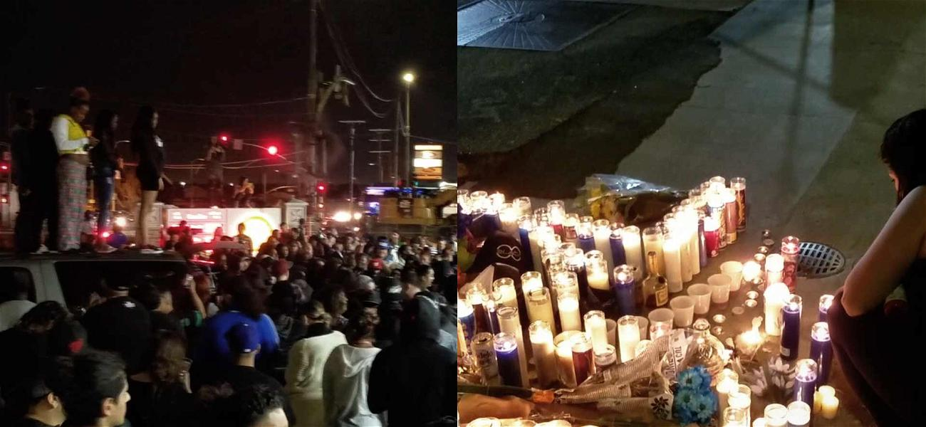 Thousands of Fans Gather at Nipsey Hussle Shooting Scene to Honor the Late Rapper