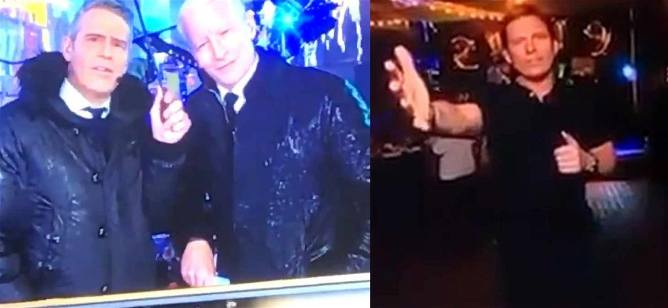 Anderson Cooper & Andy Cohen Can't Hide Laughter During NYE 'C**k' Drop