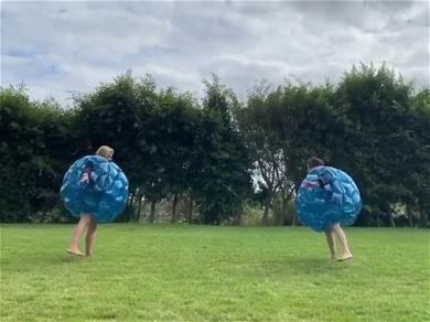 Shannen Doherty & Sarah Michelle Gellar Sumo Wrestling In Blow Up Balls, Best. Video. Ever.