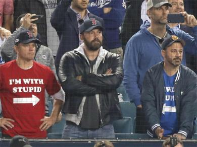 Ben Affleck Caught in the Middle of Jimmy Kimmel & Matt Damon's 'Stupid' Fashion Statement at World Series