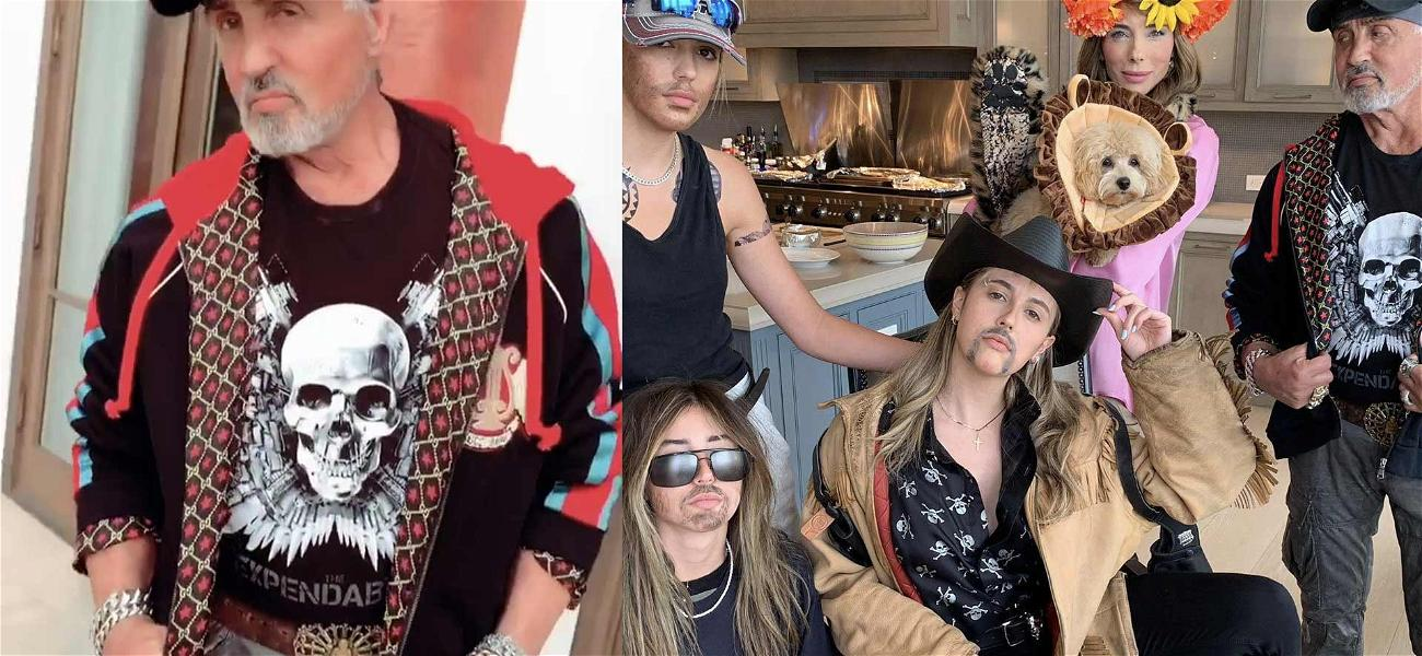 Sylvester Stallone & Daughters Dress Up As Joe Exotic, Carole Baskin, Jeff Lowe And Other 'Tiger King' Stars