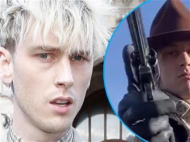 Machine Gun Kelly Shows Off Impressive Gun Spinning On Set Of New Western Movie