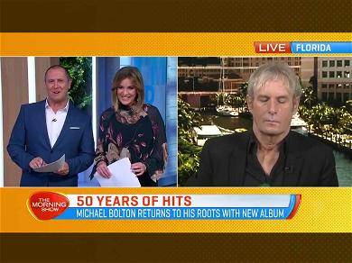 Michael Bolton Appears to Fall Asleep During Live TV Interview
