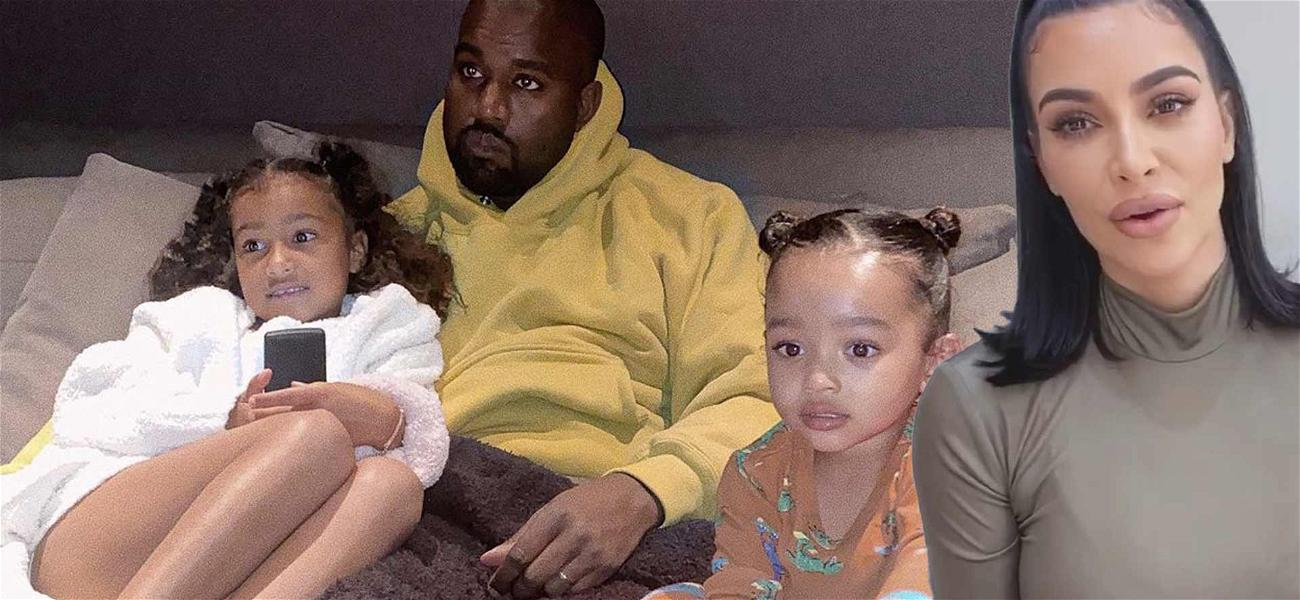 Kim Kardashian Shares Rare Picture Of Kanye West With Daughters North And Chicago