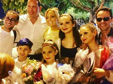 Jennifer Lopez, Alex Rodriguez and Marc Anthony at Their Daughter's Dance Recital