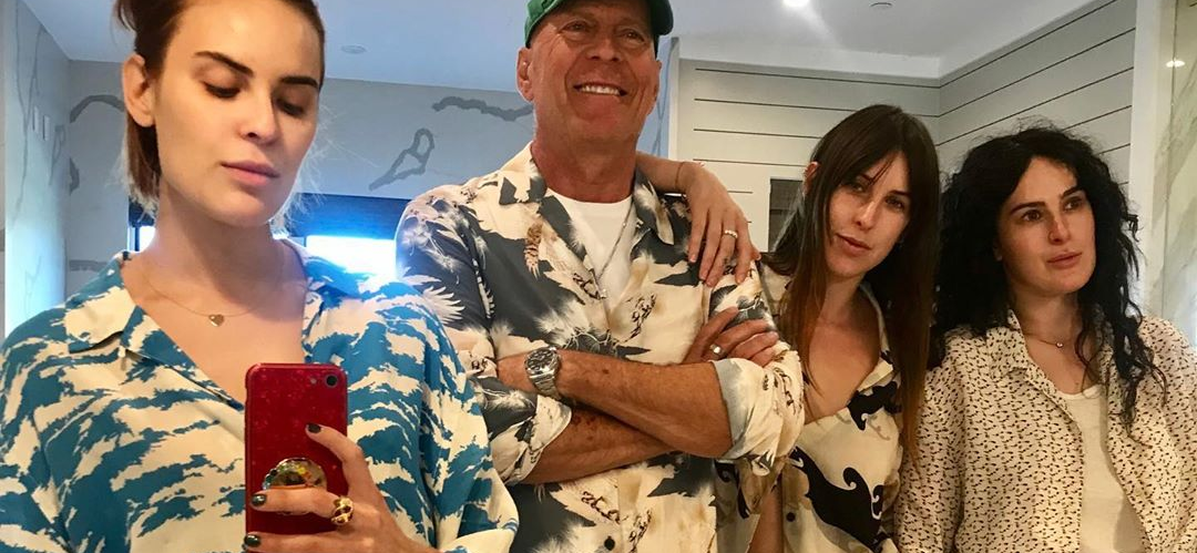 Bruce Willis Is Totally The Cool Dad, Hangs With Daughters Rumer, Tallulah and Scout