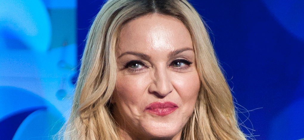 Madonna Is A Purple Princess In Prada For Stunning Smoking Shots