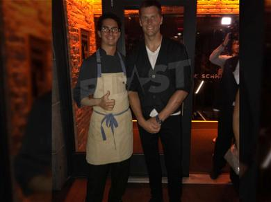 Tom Brady Stops In For Italian After Huge Win Against Texans