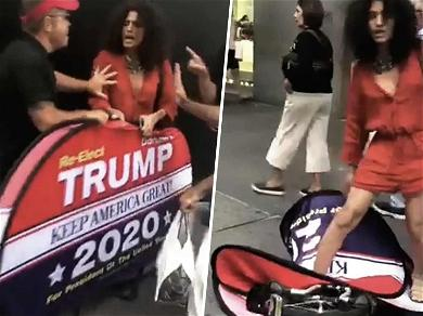 'Pose' Actor Indya Moore Gets Into Fight While Trying to Trash Trump Sign
