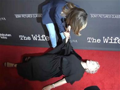 Glenn Close Lies Down on the Job at the Premiere Her New Movie