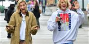Justin Bieber & Hailey Baldwin Clowning Around in The Big Apple