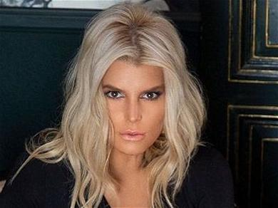Jessica Simpson Pumps Iron With Yummy Buns Out