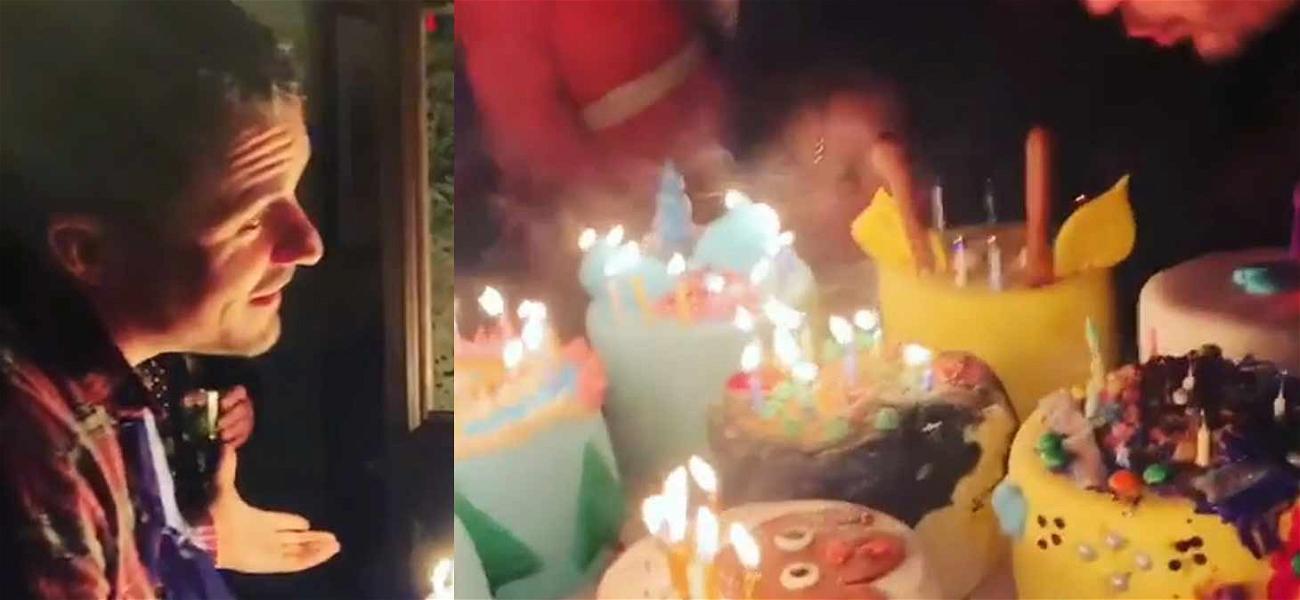 Orlando Bloom Gets Cakes on Cakes for Birthday Celebration