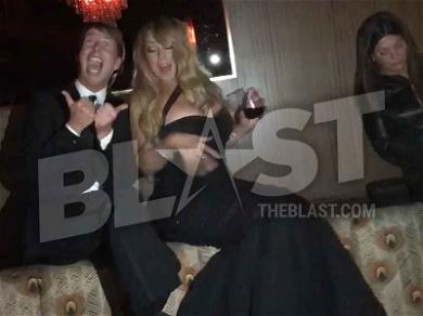 Mariah Carey Flirting With, Serenading Jack McBrayer Is The Only Golden Globes Party Moment That Matters