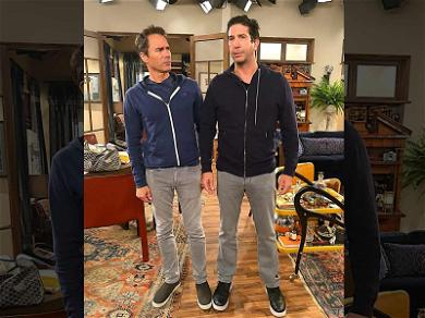 David Schwimmer Makes His Debut on 'Will & Grace' Set