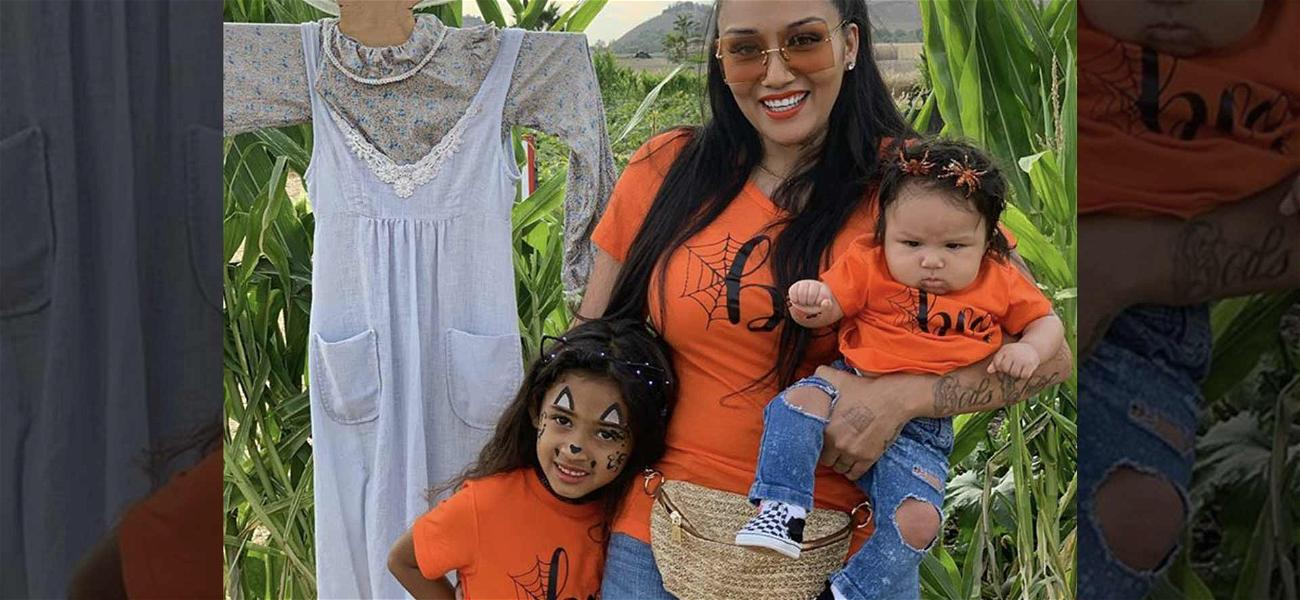 Chris Brown's Daughter Royalty Heads to Pumpkin Patch With Nia Guzman