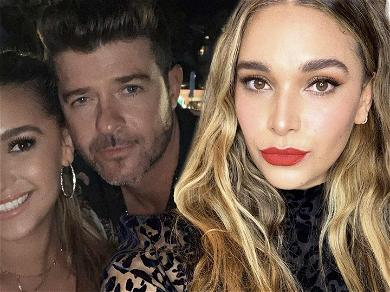 Robin Thicke's Baby Mama Flaunts Juicy Derriere While Teasing Sex Tip