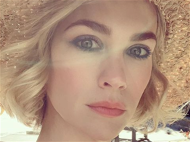 January Jones Blows Fans Away With Stunning Strapless Sundress For 43rd Birthday