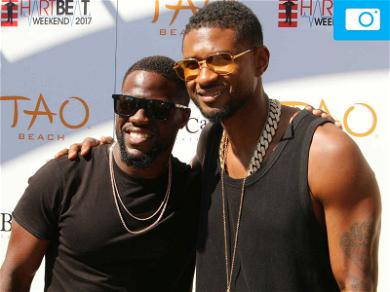 Usher and Kevin Hart Hug it Out