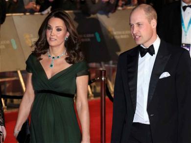 Kate Middleton Opts for Green Dress at BAFTAs Despite All-Black Time's Up Dress Code